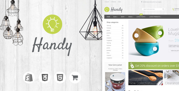 handy handmade shop shopify theme woocommerce. Black Bedroom Furniture Sets. Home Design Ideas