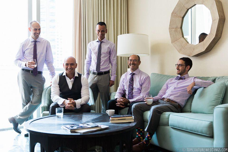 #janelleandstevetakemiami #groomandgang Photo: Tom Couture Weddings Wedding Coordinator: Catalan Productions Venue: Viceroy Miami