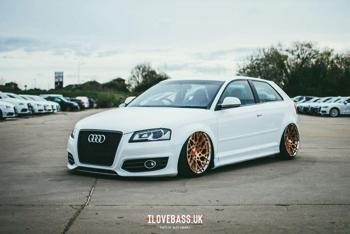 Audi a3 stance white