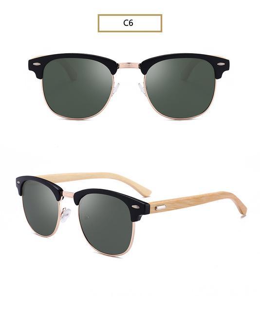 a6bdebbefae AORON Wood Sunglasses Spring Hinge Handmade Bamboo Sunglasses Men Wooden  Sun glasses Women