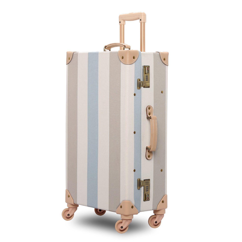 Unitravel Vintage Suitcase Hardshell Rolling Luggage Spinner Trolley Case With TSA Lock