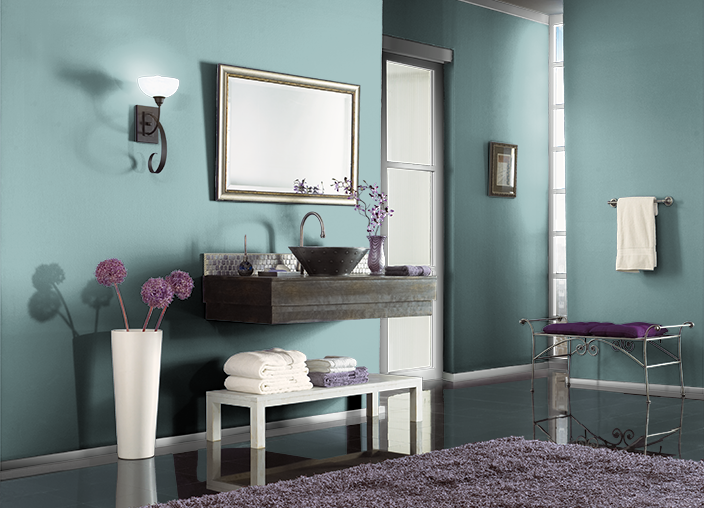 Give Your Bedroom A Makeover With Behr Paint In Artful Aqua To