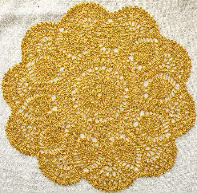 Pink Pineapple Doily Free Written Vintage Crochet Pattern By