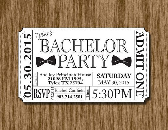beer bottle bachelor party ticket invitation template ticket