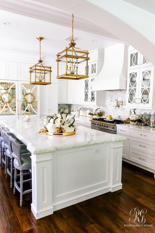 Golden Harvest Fall Home Tour Diy Kitchen Decor Kitchen Design Christmas Kitchen