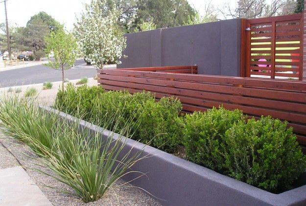 Mid Century Modern Red Twig Studio Landscape Design Architect Albuquerque Nm Modern Landscaping Modern Planters Outdoor Mid Century Landscaping
