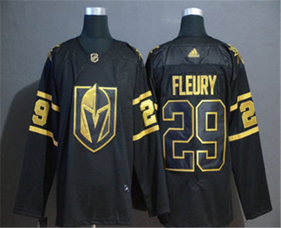 2020 Men S Vegas Golden Knights 29 Marc Andre Fleury Black Golden Adidas Stitched Nhl Jersey In 2020 Golden Knights Hockey Vegas Golden Knights Nhl Jerseys