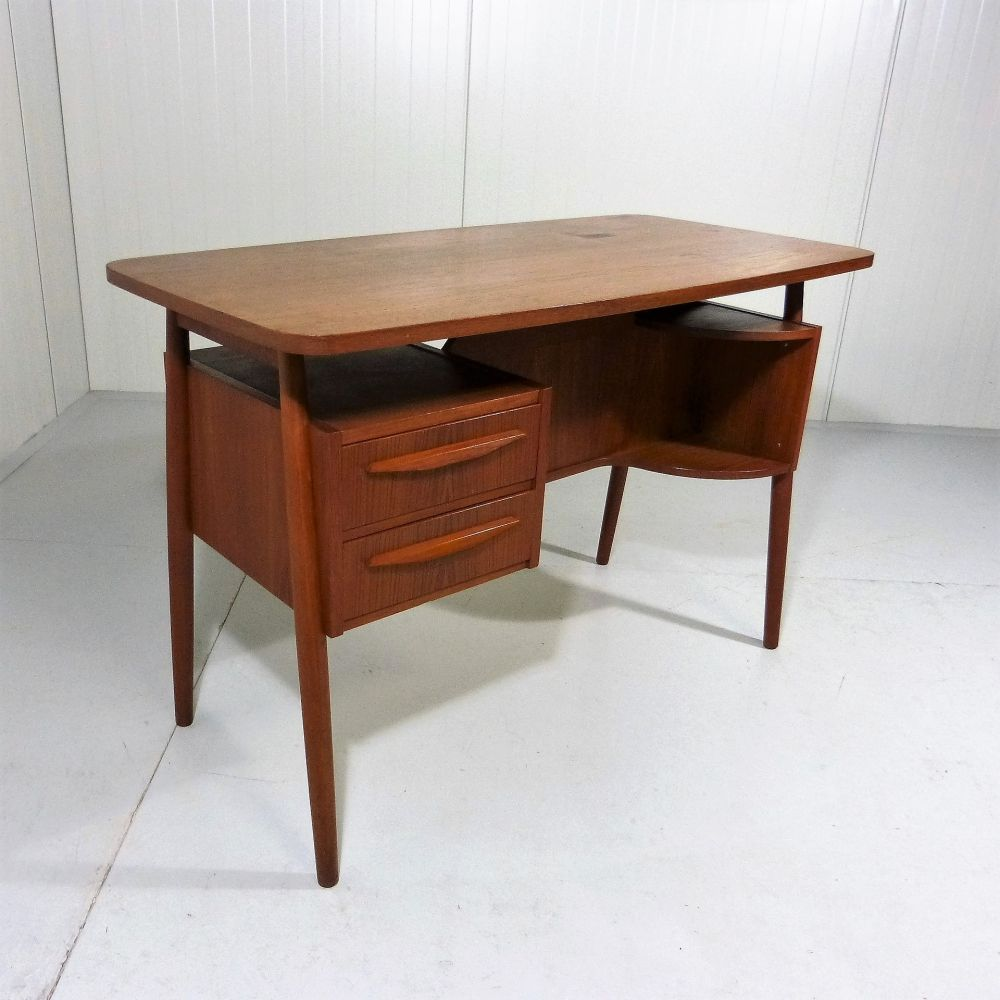 For Sale Teak Desk By Gunnar Nielsen Tibergaard For Tibergaard Denmark Desk Teak Table Design