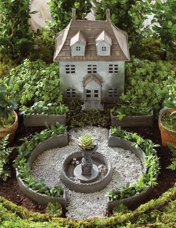 Miniature French Cau Fairy Garden Kit Victorian Trading Co
