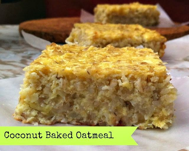 Coconut Baked Oatmeal This sounds like a cool alternative to cornbread. Or maybe with pumpkin instead of coconut.