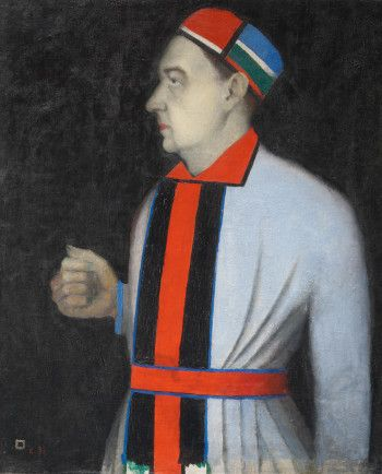 Royal Academy of Arts. London. Kazimir Malevich, Portrait of Nikolai Punin
