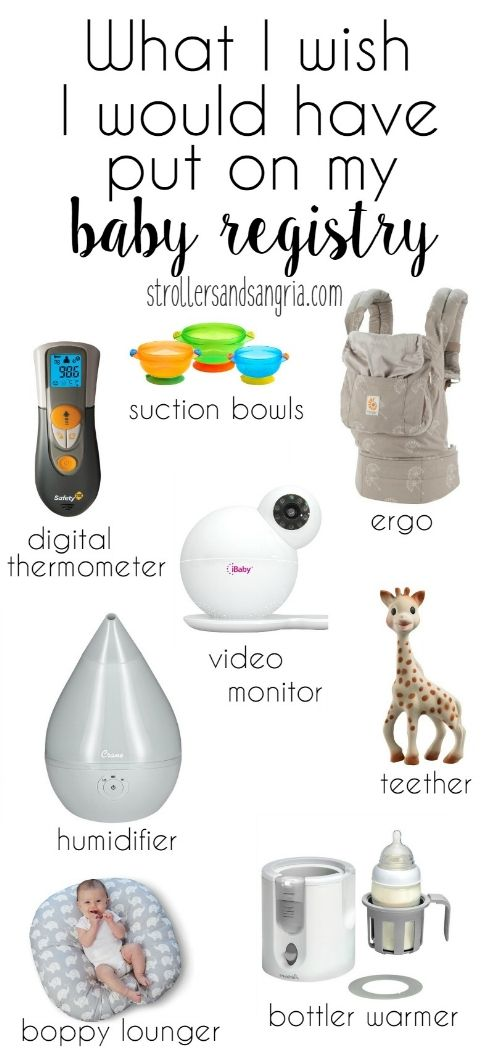 A list of things I wish I would have put on my baby registry ...