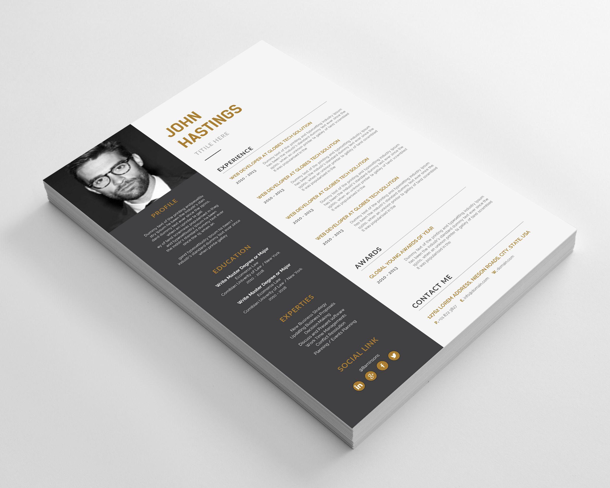 Paul Resume Cover Letter Design Resume Template Elegant Words