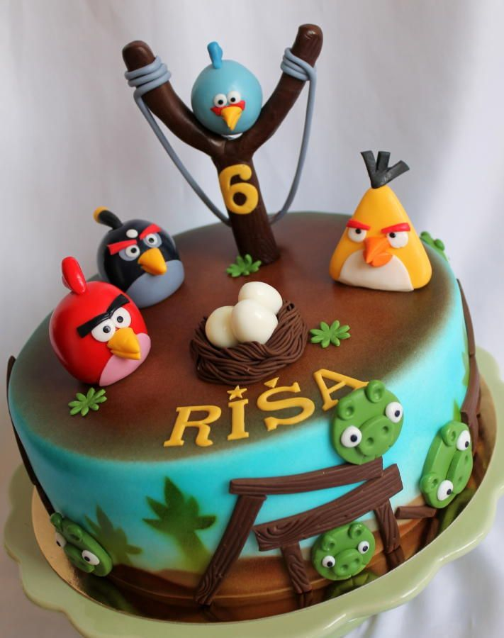 Angry Birds Cake With Images Angry Birds Birthday Cake Angry