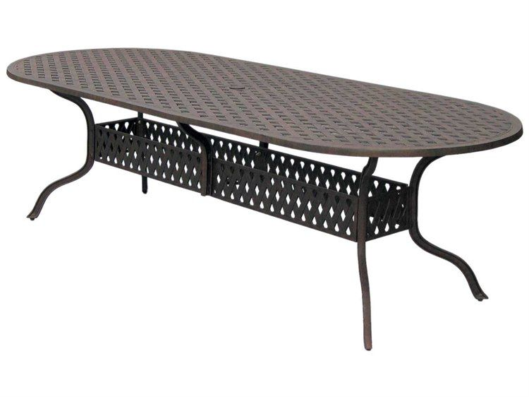 Darlee Outdoor Living Series CastAluminum Antique Bronze X - 30 x 42 dining table
