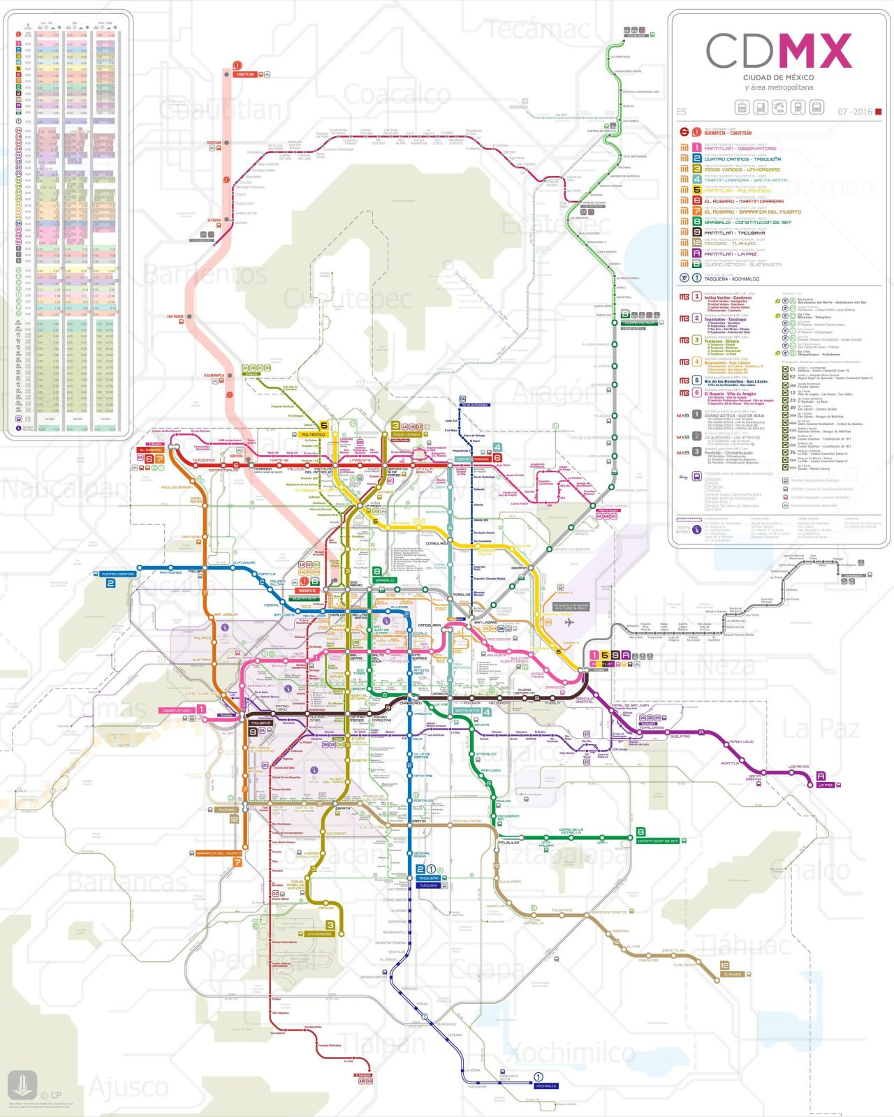 Public Transportation Network of the Mexico City Urban Area
