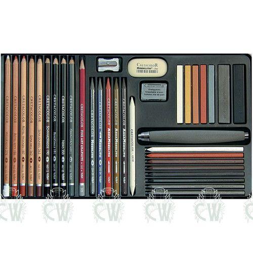 Cretacolor Ultimo Artists Pencil Set. Charcoal, Pastel ...