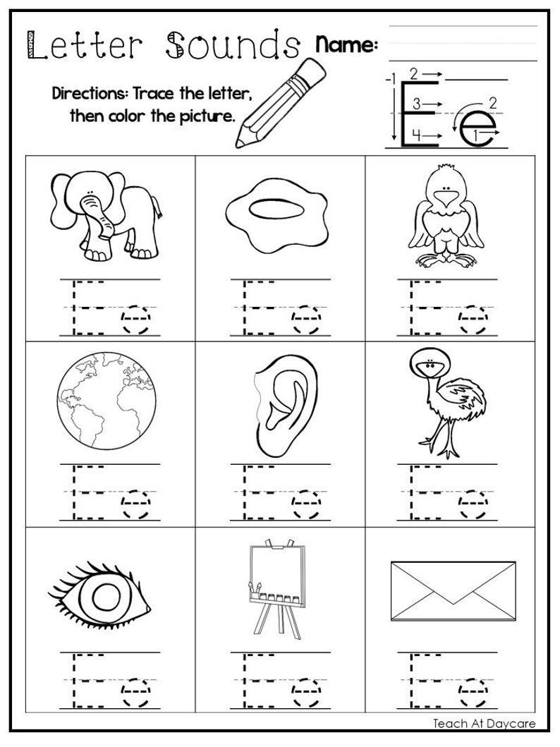 26 Printable Alphabet Letter Sounds Worksheets Preschool Kdg Etsy Letter Practice Preschool Letter Sounds Letter Sounds Preschool