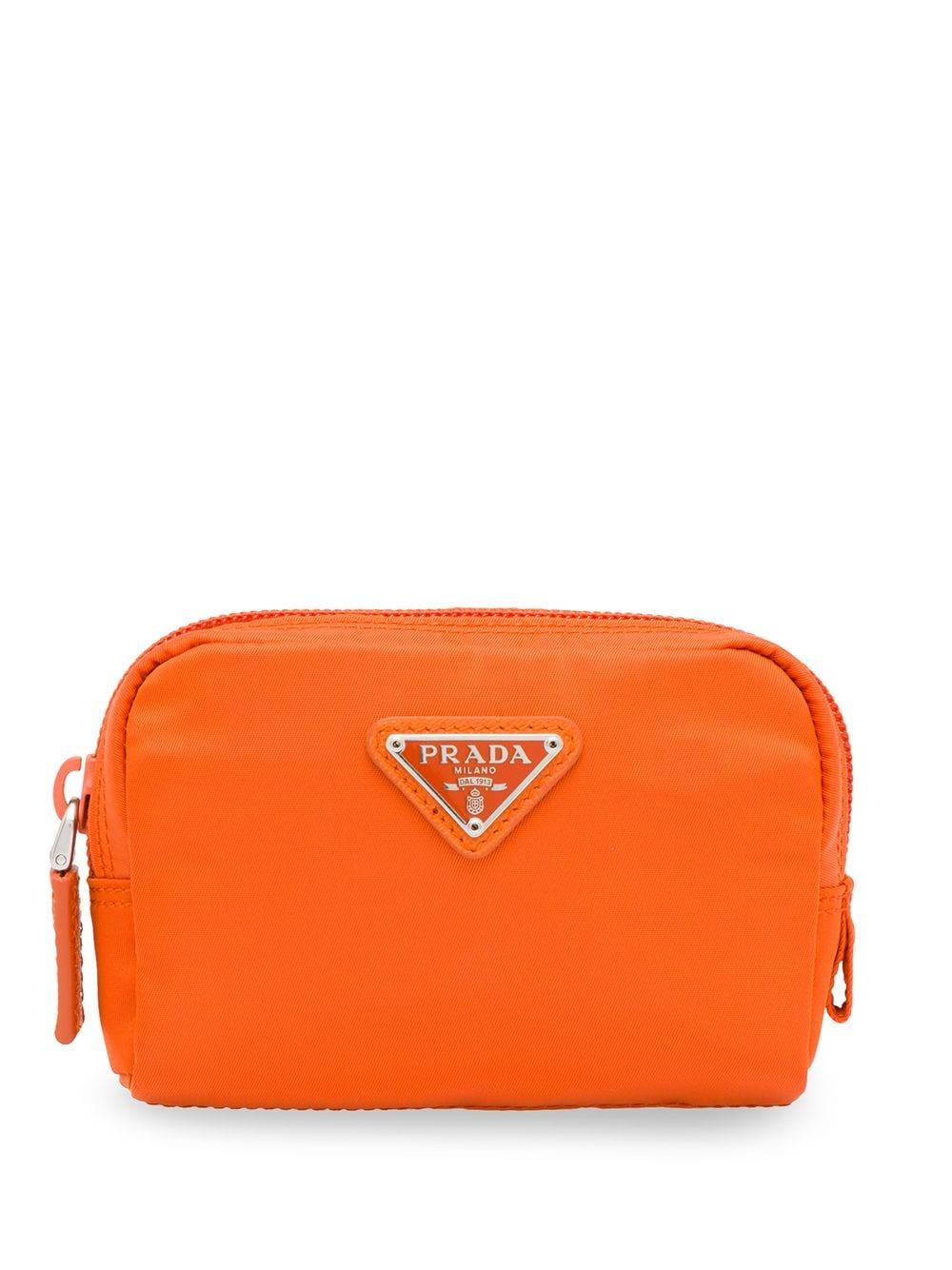 Prada Logo Plaque Cosmetics Bag in 2020 Cosmetic bag