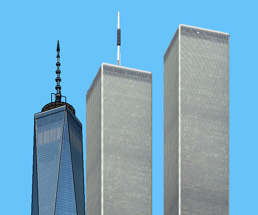 image Twin towers watermelons 1 of 3