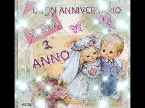 Auguri Anniversario Matrimonio Un Anno : Buon anniversario di carta anno di matrimonio buongiorno sposi