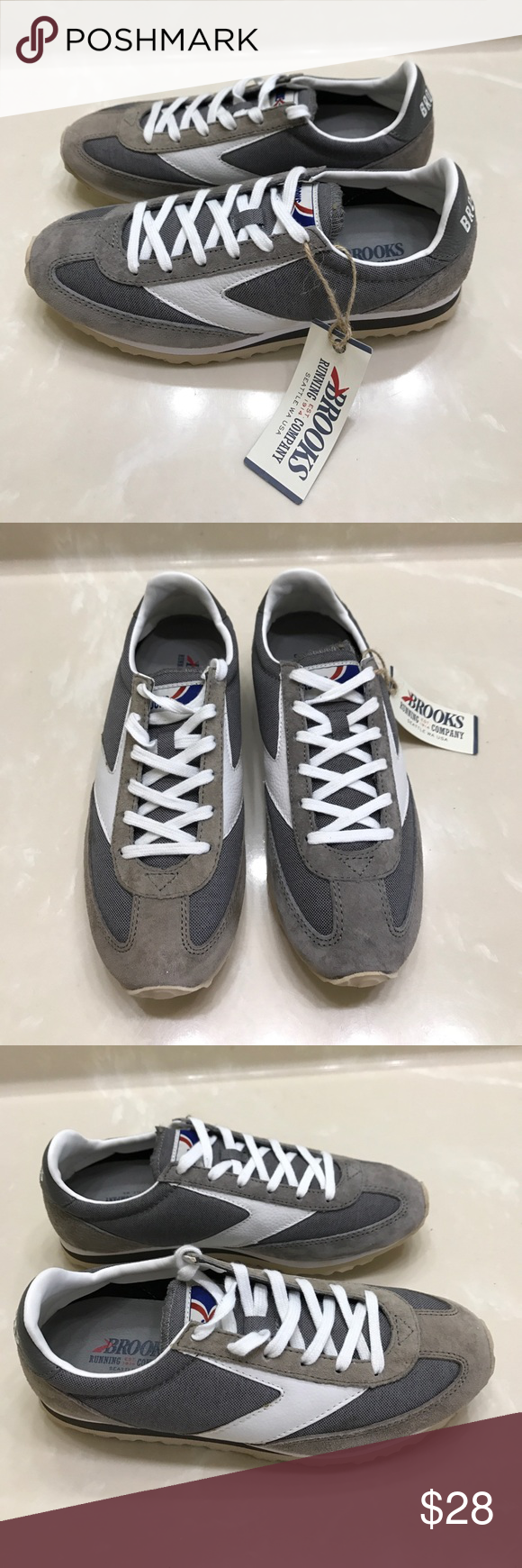 4e0c32f95c7 New defect Brooks running shoes sneakers sz 7 New with defect Brooks  running shoes sneakers tennis shoes sz 7 one shoe was a display model and  suede is ...