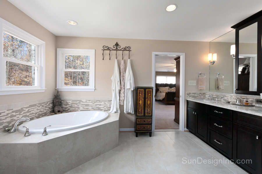 Modern Bathroom Remodel Sun Design Remodeling Specialists Inc Custom Bathroom Remodel Northern Virginia Remodelling