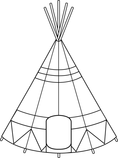 Teepee Tent Coloring Page Free Clip Art Native American Symbols Free Clip Art American Indian Art
