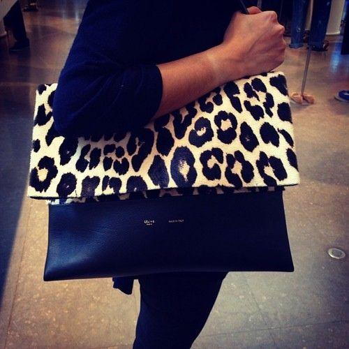 Celine leopard foldover