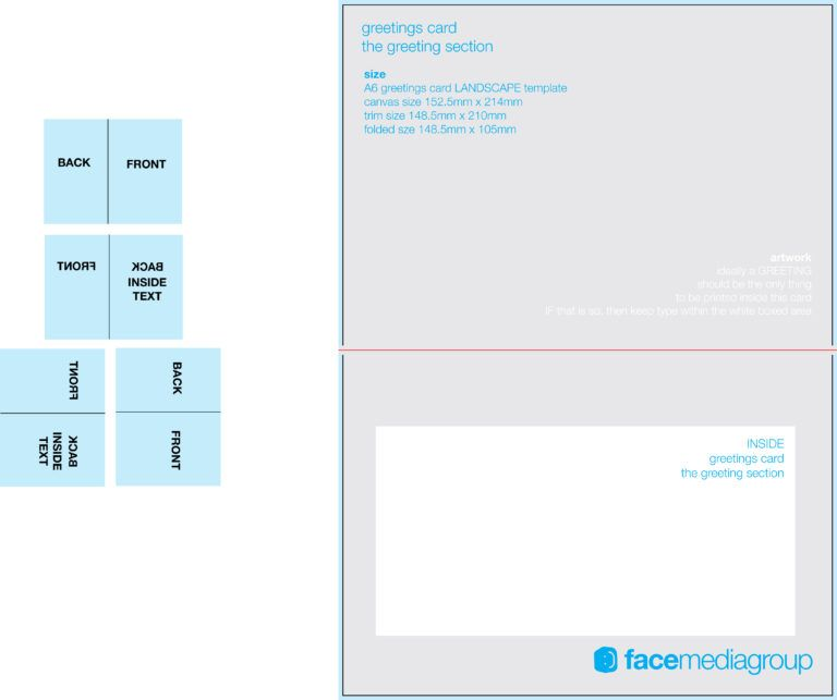 5X7 Folded Card Template For Word from i.pinimg.com