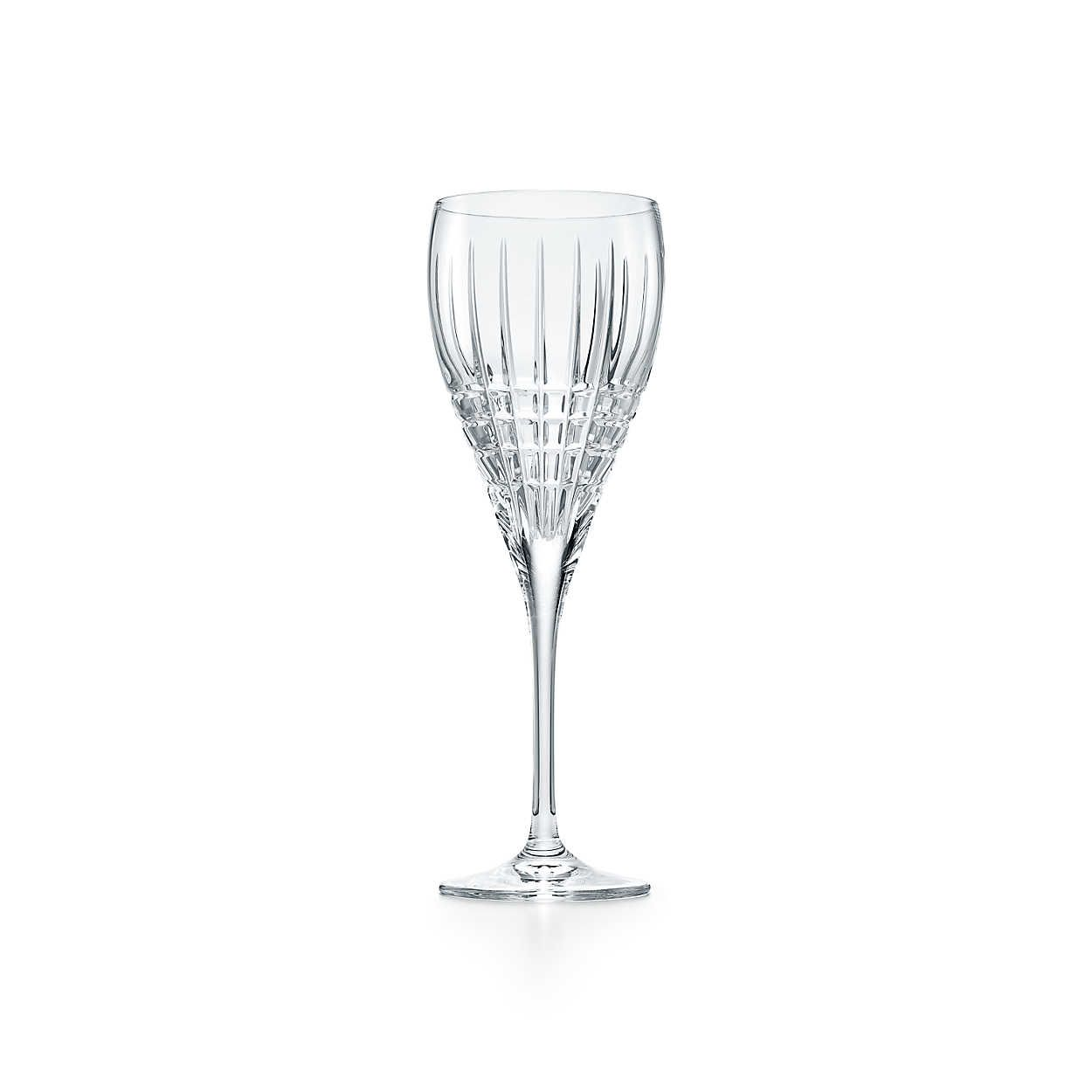 Plaid Wine Glass In Crystal Tiffany Co Wine Glass Champagne Flute Glass