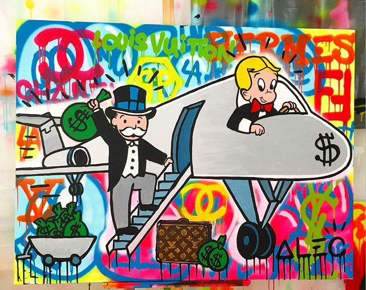 Monopoly Man Image By Scott Slifer Oil Painting On Canvas