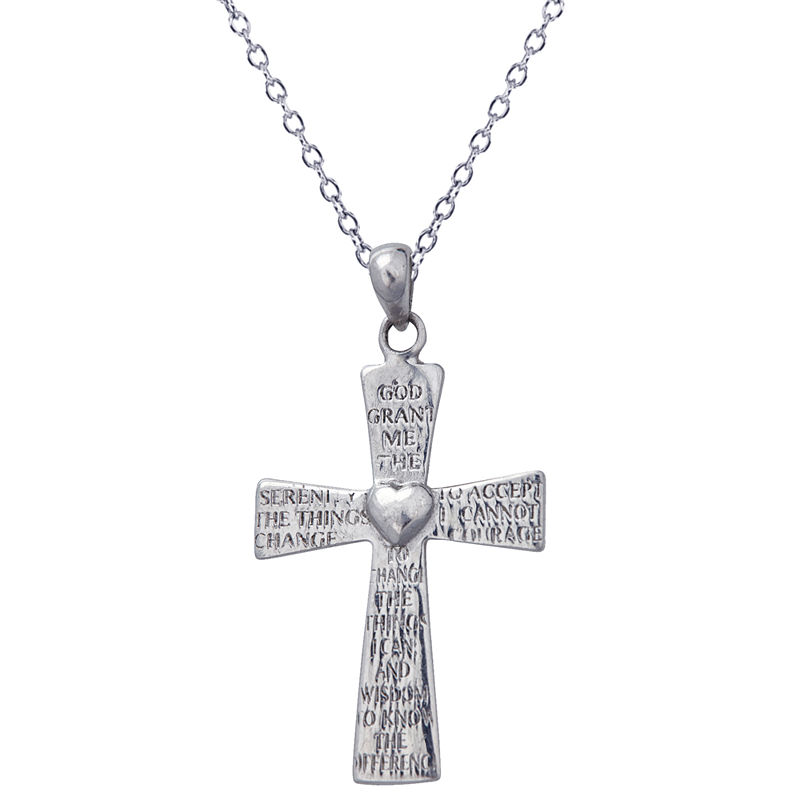 35mm Silver Yellow Plated Budded Cross Pendant