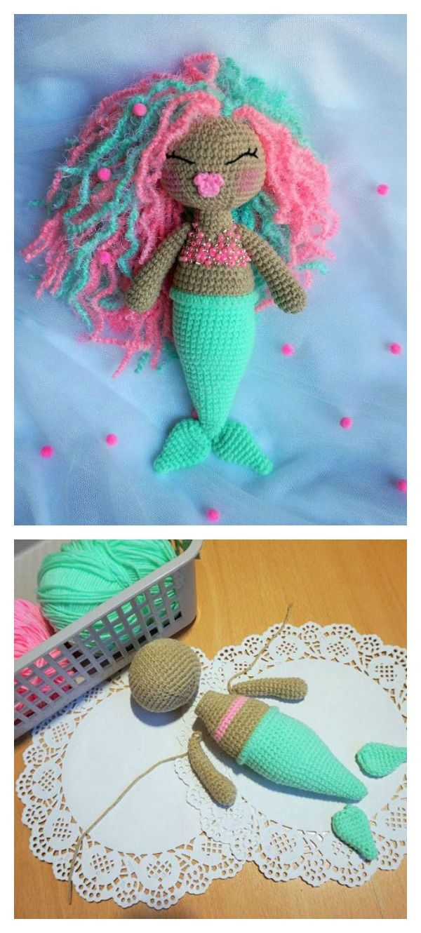 6 Crochet Amigurumi Mermaid Doll Patterns Crochet Crochet Dolls