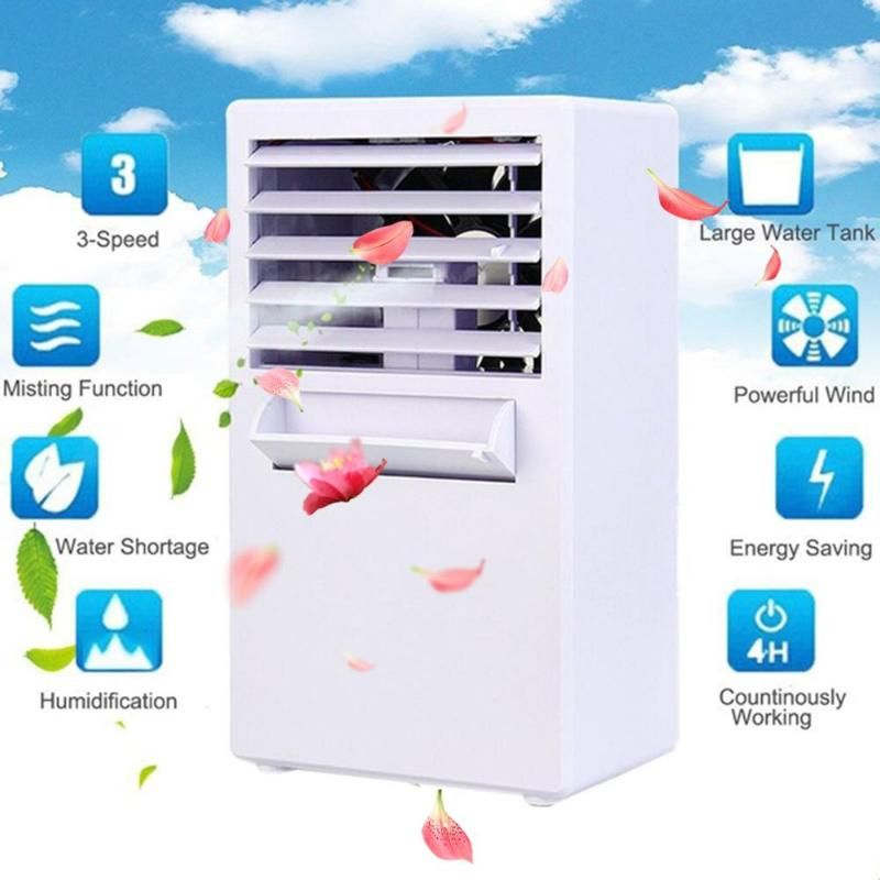 Home Office Usb Air Cooler 3 Speeds Mini Air Conditioner Device Air Conditioning Fan Cooler Purif Portable Air