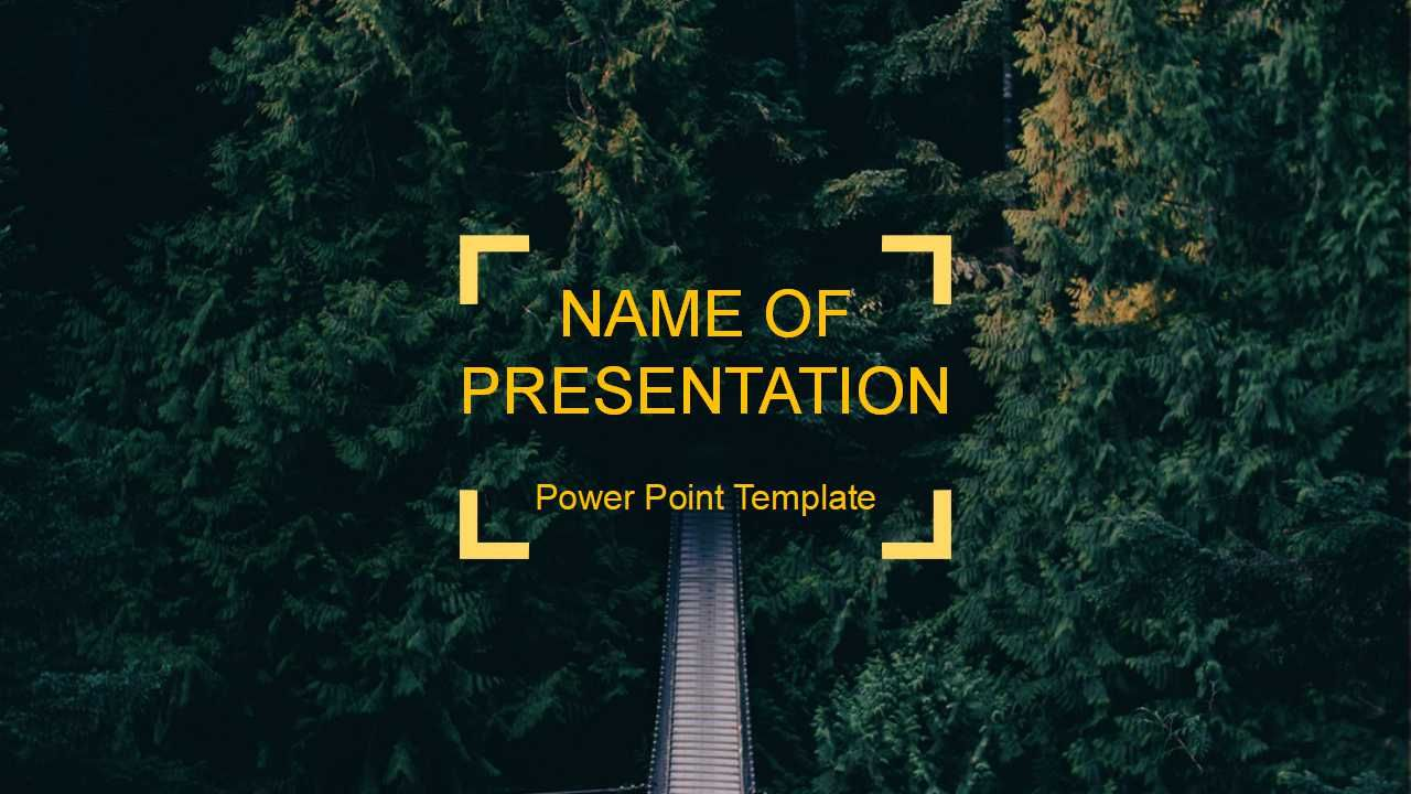 forest background powerpoint template free powerpoint