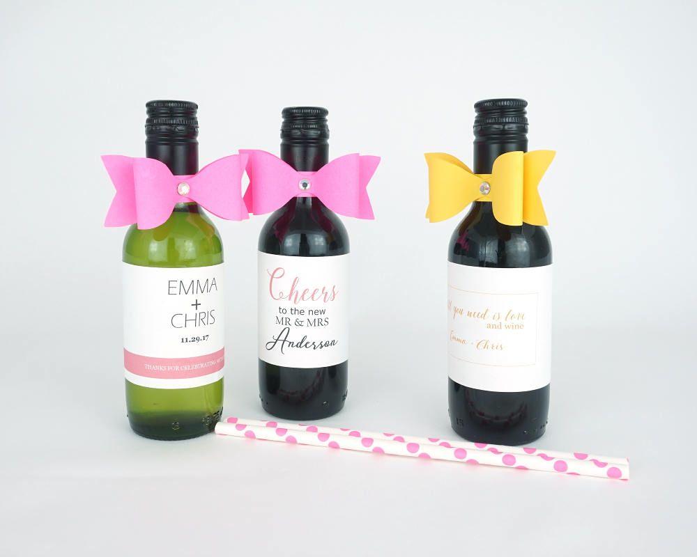 10 Paper bows with rhinestone, mini wine paper ribbon, mini wine ...