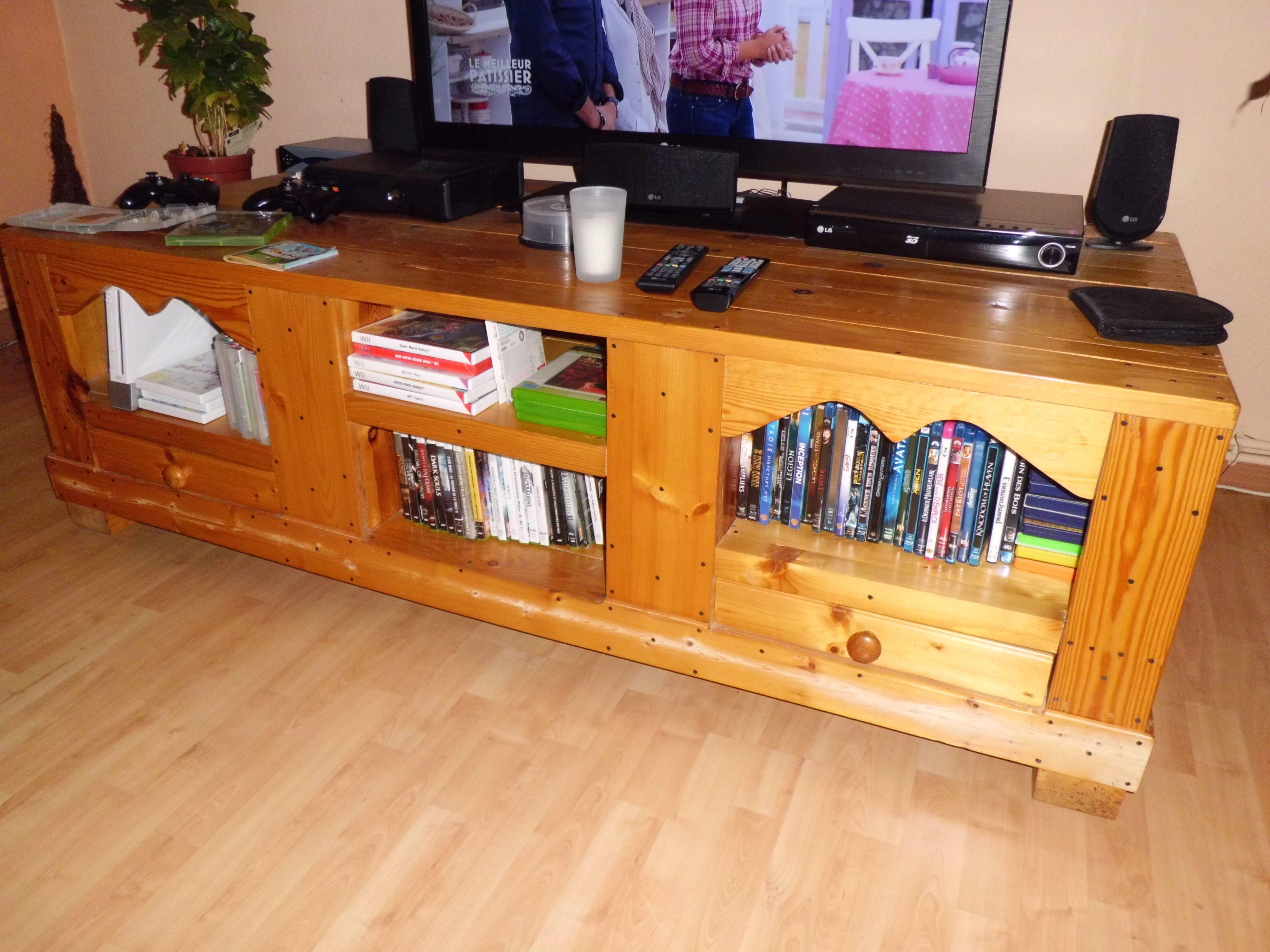 Meuble Tv Instructions De Montage Do It Yourself Bosch Meubles  # Meuble Tv Palette Tuto