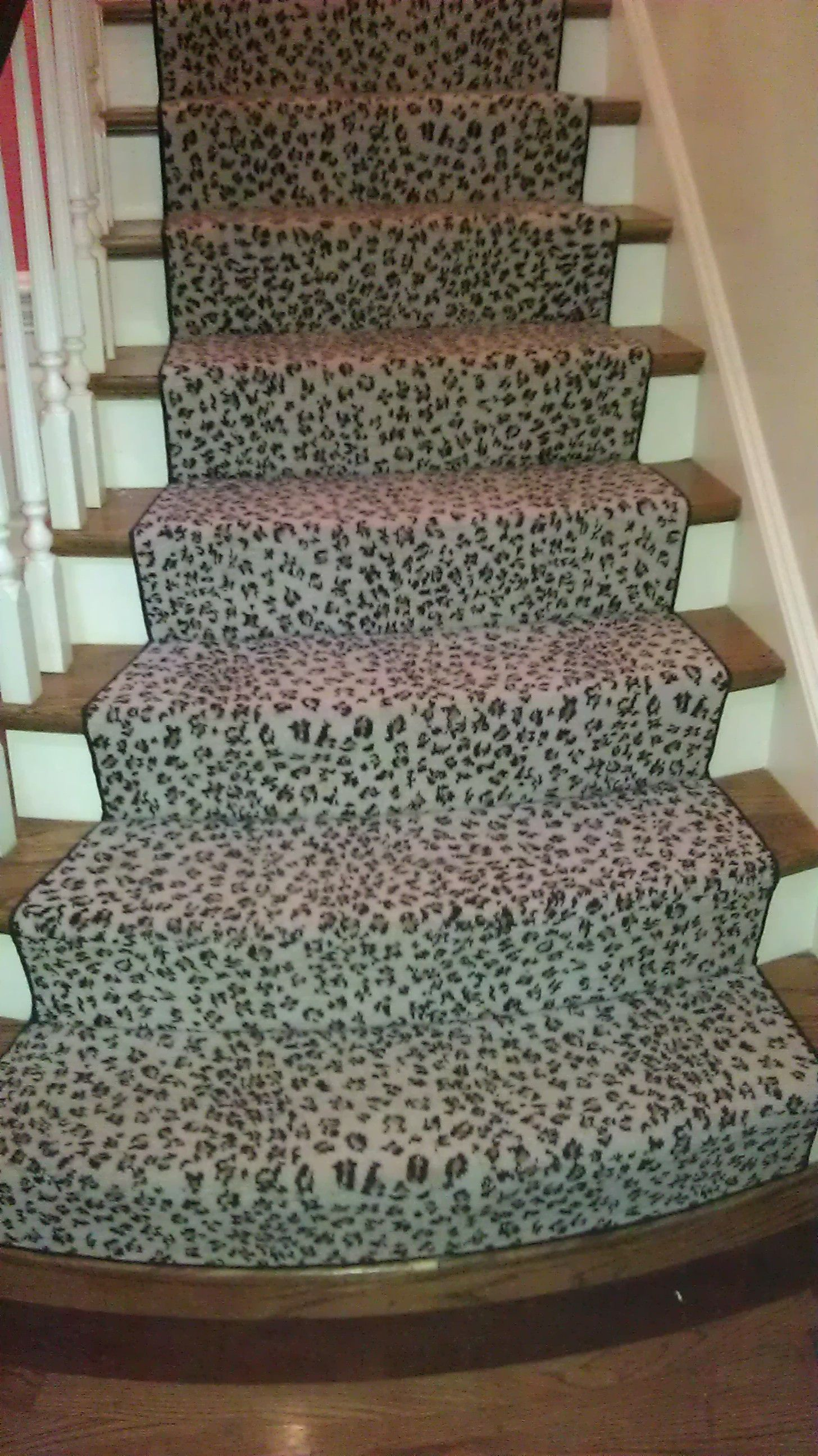 Wool Woven Wilton Carpet The Bottom Step Hand Sewed To Fit