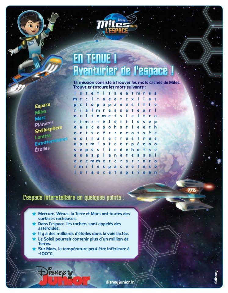site, imprimable et textes en français)   Miles from Tomorrowland ...