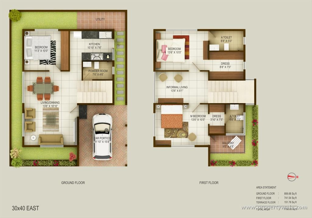 Wonderful inspiration 6 duplex house plans for 30x50 site for 30x50 duplex house plans