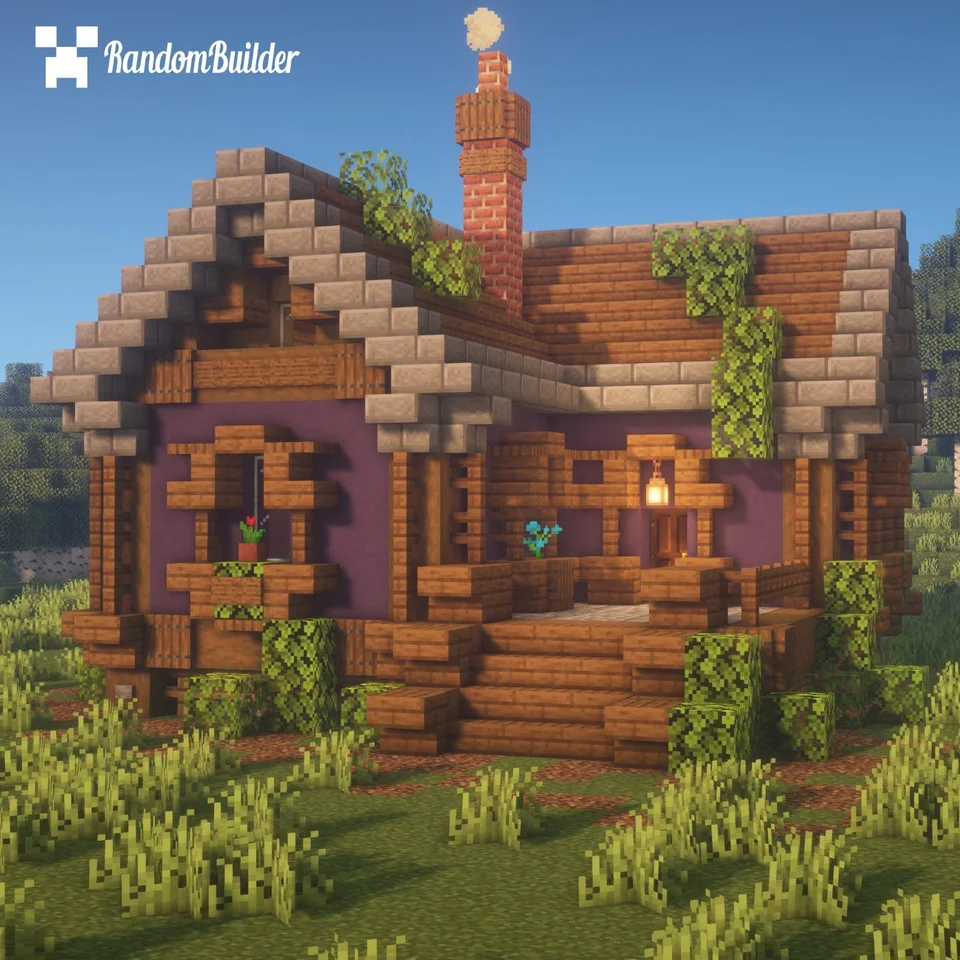 I built a small cottage! What do you think? : Minecraft  Cute