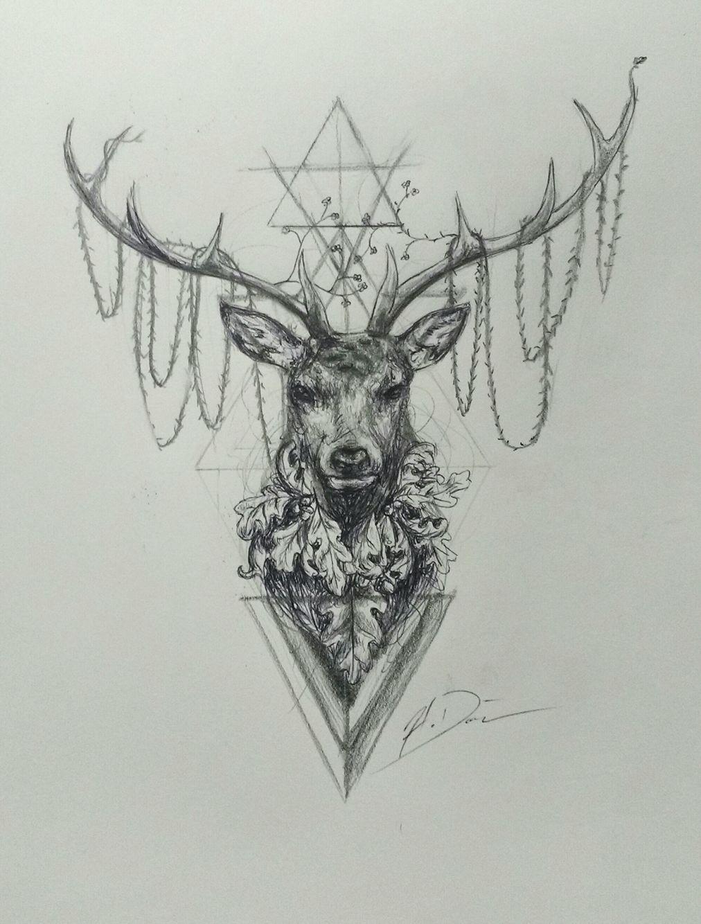 b0af9fa4d Hannibal stag tattoo | tattoos | Stag tattoo, Tattoo drawings ...