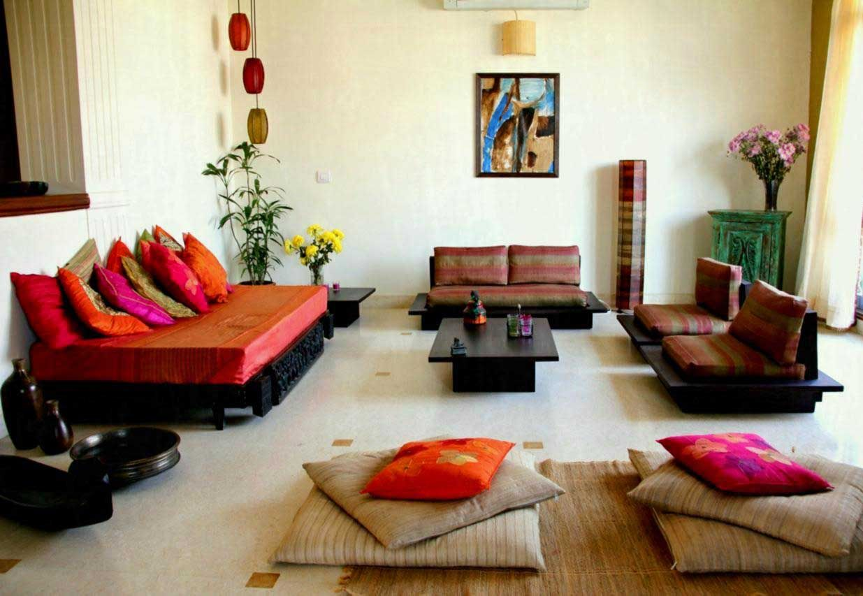 14 Amazing Living Room Designs Indian Style Interior And Decorating Ideas Archlux Net Floor Seating Living Room Living Room Furniture Arrangement Indian Living Room Design
