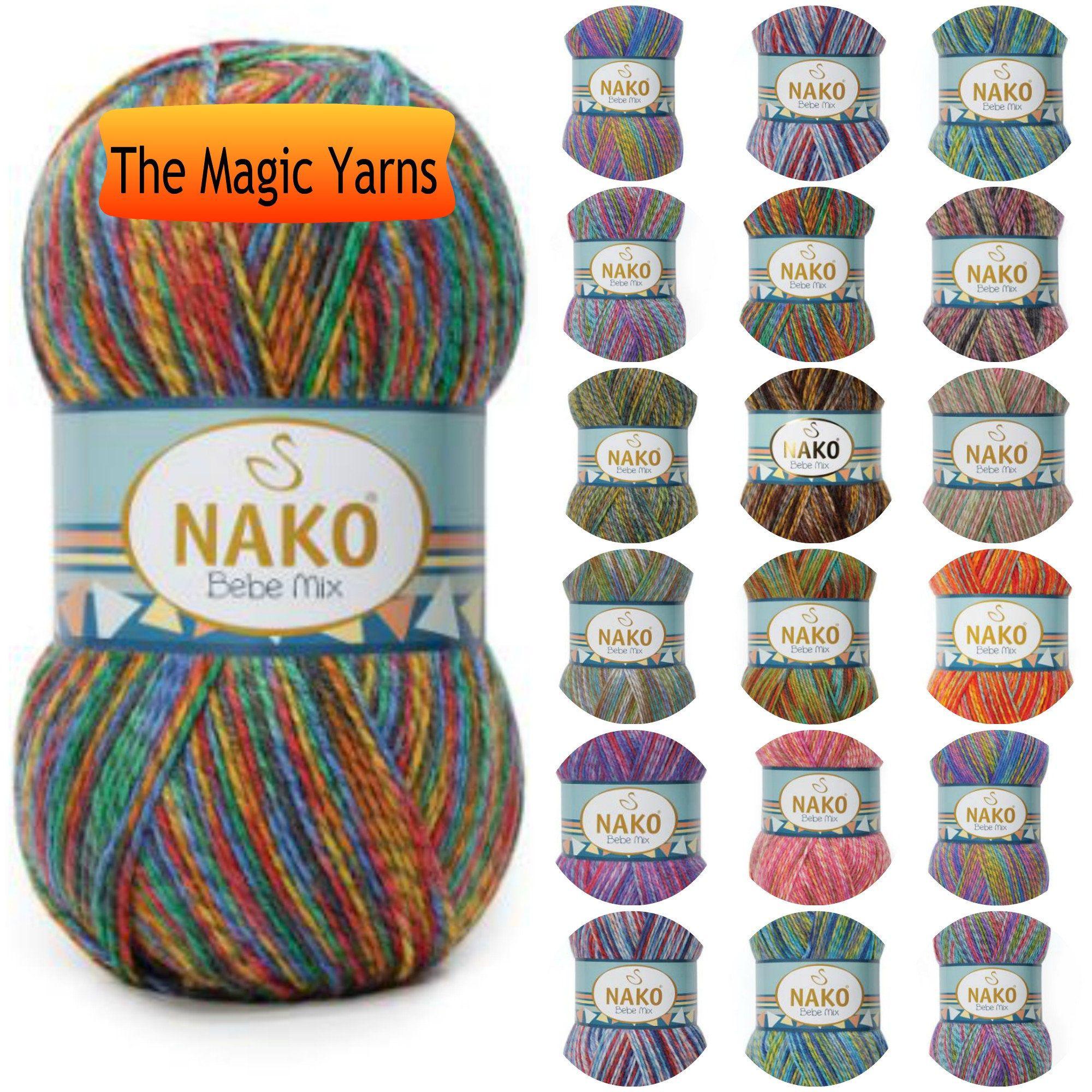 Chunky Turquoise Yarn Crocheted yarn Aqua Blue Yarn for Knitting Knitting Yarn Yarn on Cone Strip Yarn 200 g Hand Knit Yarn