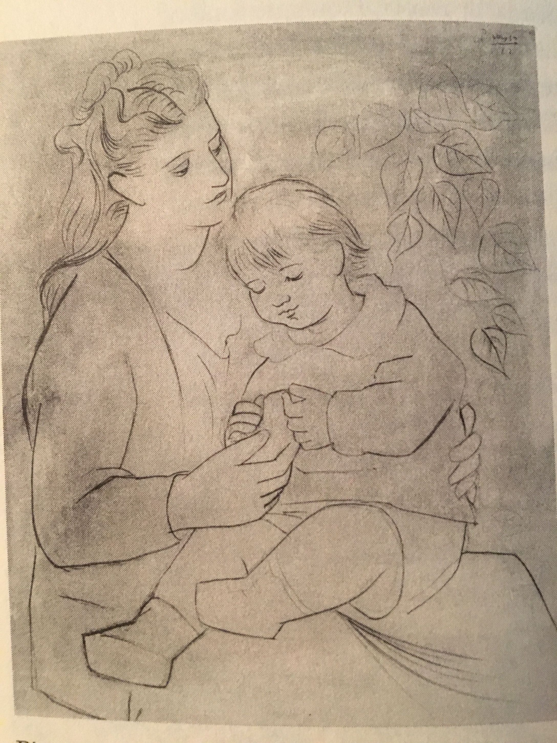 Images picasso mostly in pencil word and silence artist vintage