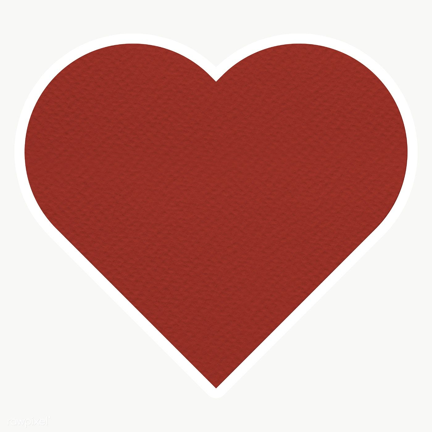 Red Textured Paper Heart Shaped Sticker Design Element Free Image By Rawpixel Com Sasi Sticker Design Paper Texture Paper Heart