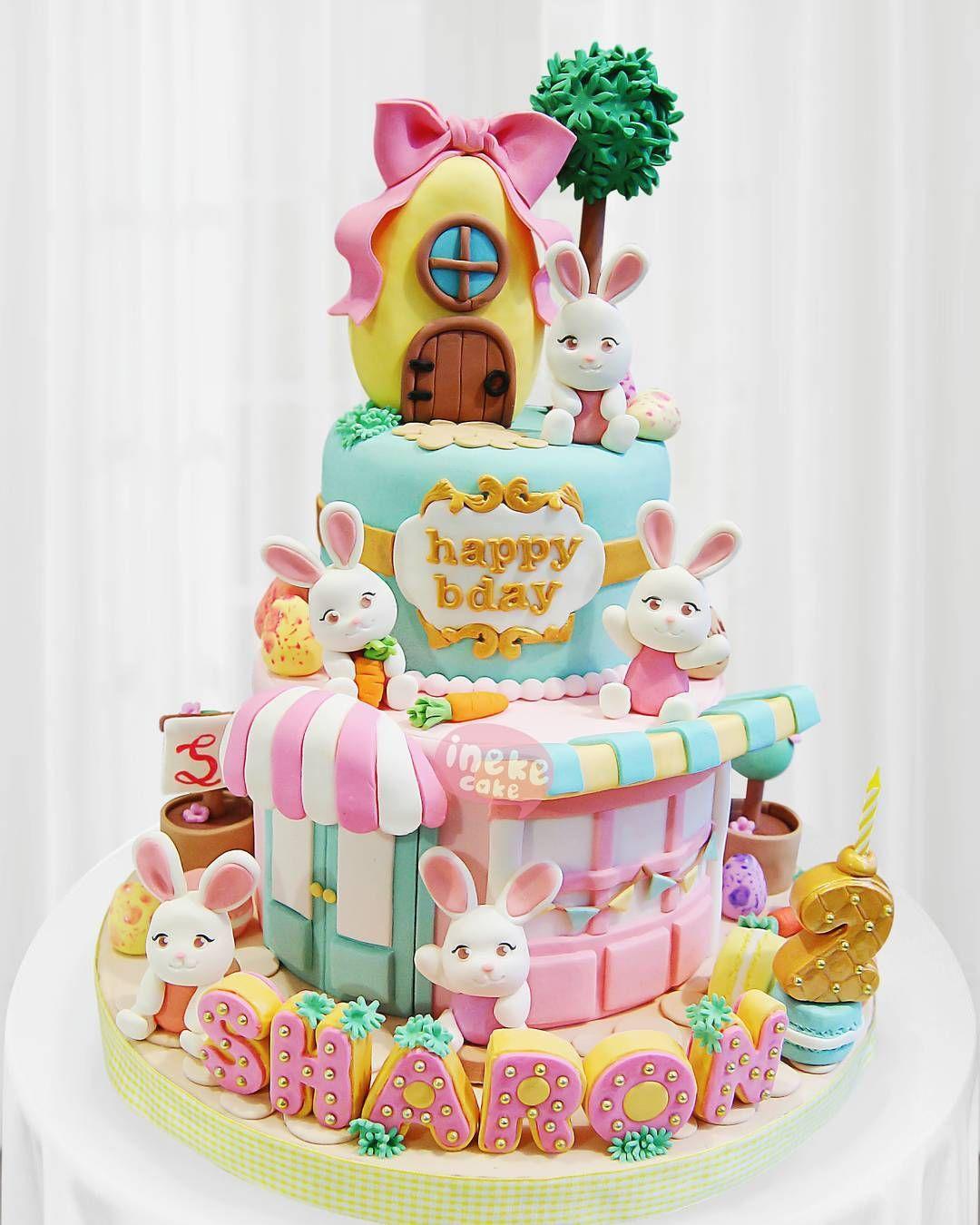 Bunny cake inekecake cakesemarang customcakesemarang