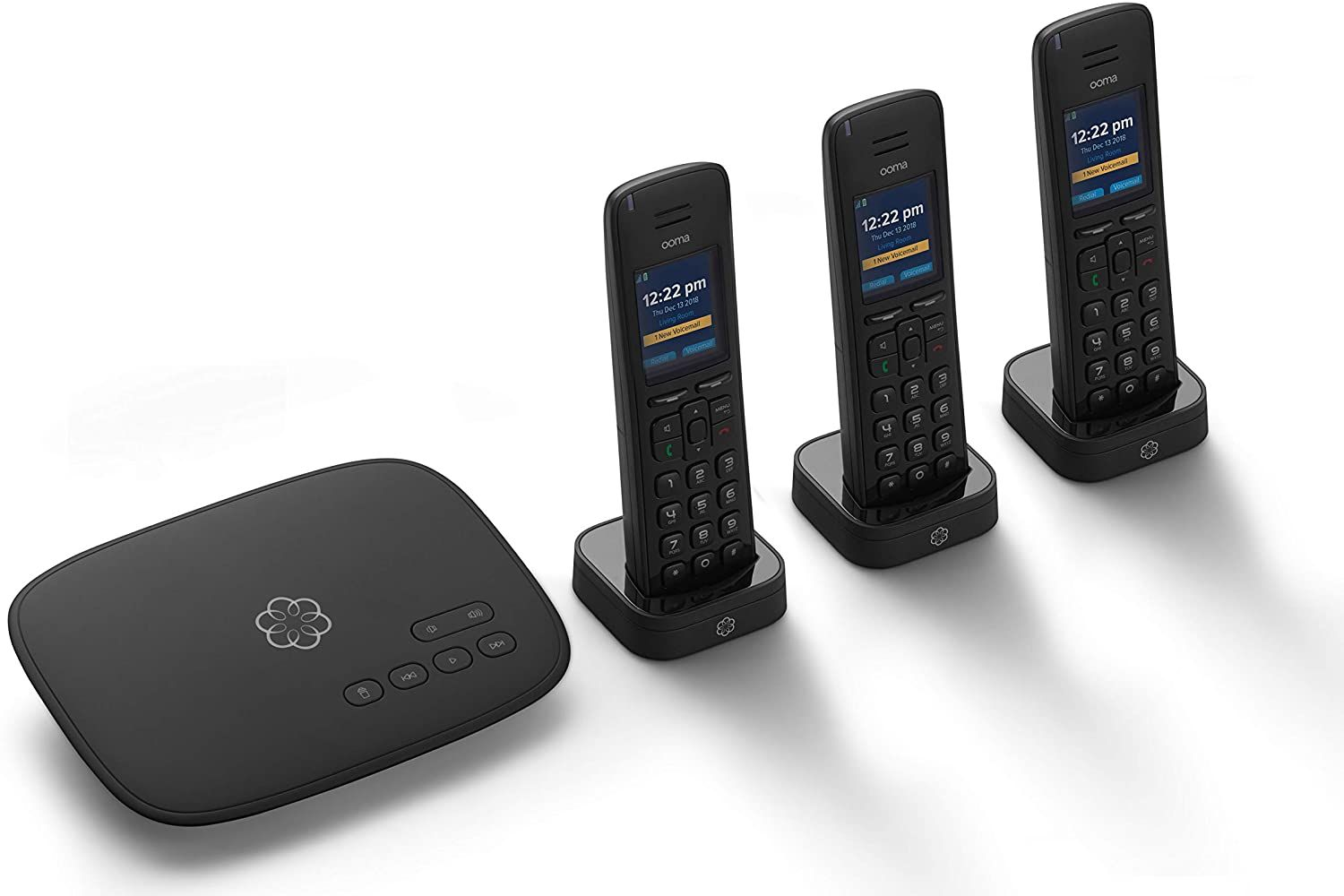 Ooma Telo Voip Free Internet Home Phone Service With 3 Hd3 Handsets Affordable Landline Replacement Unlimited Nationwide Calling In 2020 Voip Phone Service Handset