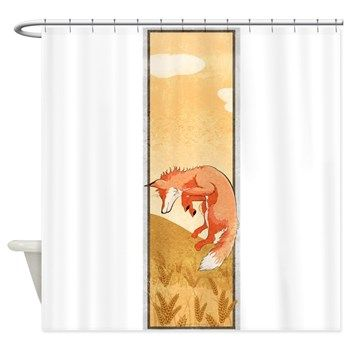 Fall Fox Shower Curtain From Cafepress Store AG Painted Brush T Shirts Bathroom